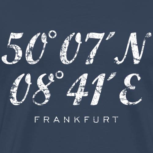Frankfurt am Main Koordinaten Vintage Weiß