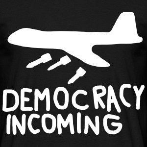 Democracy Incoming T-shirts - Mannen T-shirt