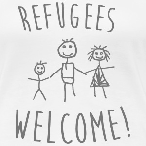 Refugees Welcome! T-Shirts - Frauen Premium T-Shirt