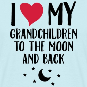 I Love My Grandchildren To The Moon And Back T-shirts - Mannen T-shirt