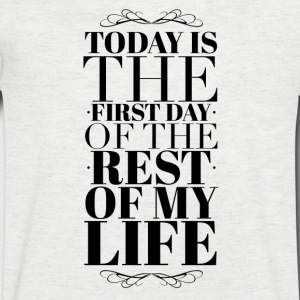 Today is the first day of the rest of my life T-skjorter - T-skjorte med V-utsnitt for menn