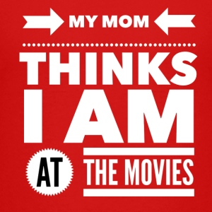 My mom thinks i am at the movies Magliette - Maglietta Premium per ragazzi