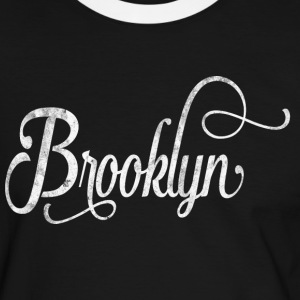 Brooklyn typographie vintage Tee shirts - T-shirt contraste Homme