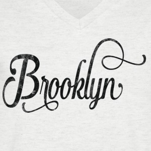 Brooklyn typographie vintage Tee shirts - T-shirt Homme col V