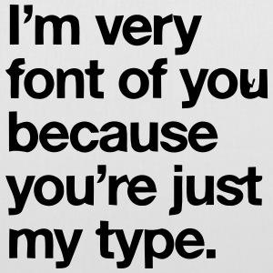 YOU'RE JOKE JUST MY TYPO - GRAPHIC DESIGN Borse & zaini - Borsa di stoffa