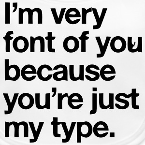 YOU'RE JOKE JUST MY TYPO - GRAPHIC DESIGN Accessoarer - Ekologisk babyhaklapp