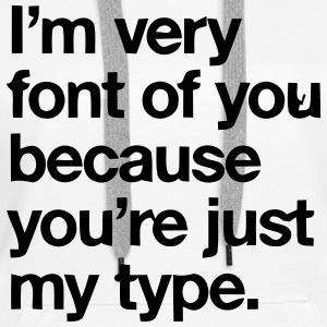 YOU'RE JOKE JUST MY TYPO - GRAPHIC DESIGN Bluzy - Bluza damska Premium z kapturem
