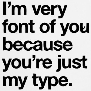 YOU'RE JOKE JUST MY TYPO - GRAPHIC DESIGN Forklær - Kokkeforkle