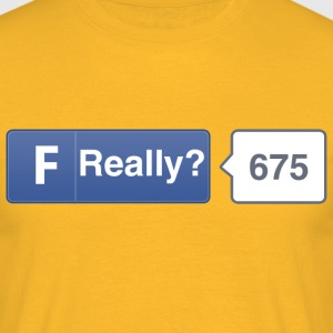 FB button - Really T-Shirts - Men's T-Shirt