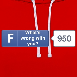 FB button - Wrong Hoodies & Sweatshirts - Contrast Colour Hoodie