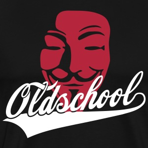 Oldschool - Swash / Guy Fawkes Mask for dark shirt - Männer Premium T-Shirt