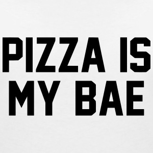 PIZZA IS MY BABE T-shirts - T-shirt med v-ringning dam
