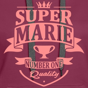 Super Marie Sweat-shirts - Sweat-shirt à capuche Premium pour femmes