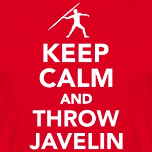 Keep calm and throw Javelin T-Shirts - Männer T-Shirt