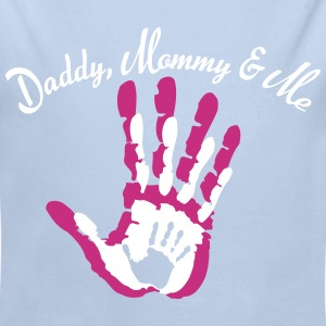 Daddy, Mommy and Me Baby Bodys - Baby Bio-Langarm-Body