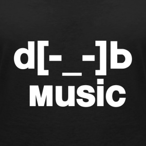 d[music]b T-Shirts - Women's V-Neck T-Shirt