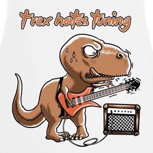White spreadmusic2015 T-Rex Hates Tuning - guitar rock  Aprons - Cooking Apron