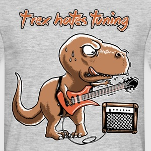 Heather grey spreadmusic2015 T-Rex Hates Tuning - guitar rock T-Shirts - Men's T-Shirt