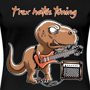 spreadmusic2015 T-Rex Hates Tuning - guitar rock T-Shirts - Frauen Premium T-Shirt