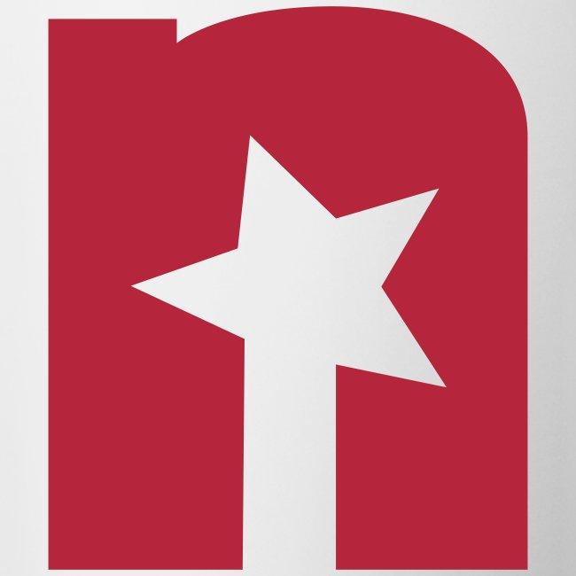 Tasse, weiß - Logo rot