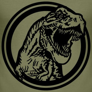 tyrannosaurus cercle Tee shirts - Tee shirt près du corps Homme