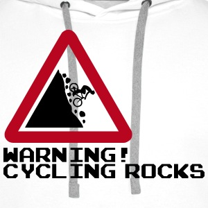 Cycling Rocks Hoodies & Sweatshirts - Men's Premium Hoodie
