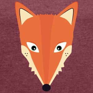 Sweet Fox T-Shirts - Women's T-shirt with rolled up sleeves