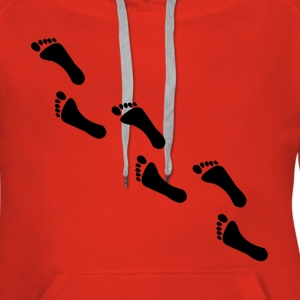 footprints, footprint Hoodies & Sweatshirts - Women's Premium Hoodie