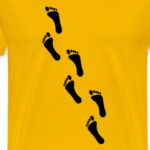 footprints, footprint T-skjorter - Premium T-skjorte for menn
