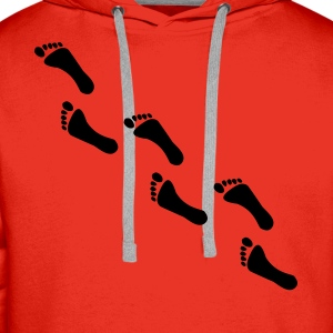 footprints, footprint Hoodies & Sweatshirts - Men's Premium Hoodie