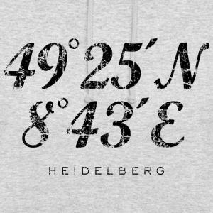 Heidelberg Koordinaten Vintage Schwarz