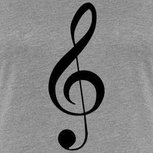 Clef Music Notes T-shirts - Dame premium T-shirt