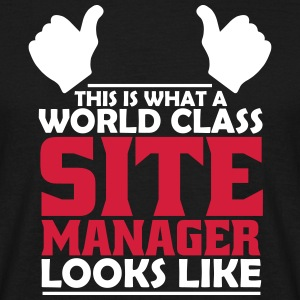 world class site manager T-Shirts - Men's T-Shirt