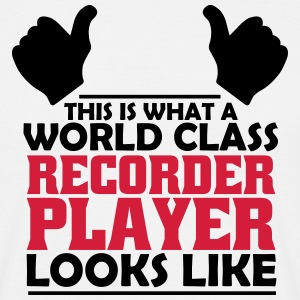world class recorder player T-Shirts - Men's T-Shirt