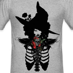 Sexy witch Halloween Men's Slim Fit T-Shirt - Men's Slim Fit T-Shirt