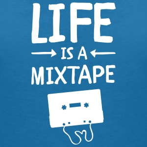 Life Is A Mixtape Tee shirts - T-shirt col V Femme