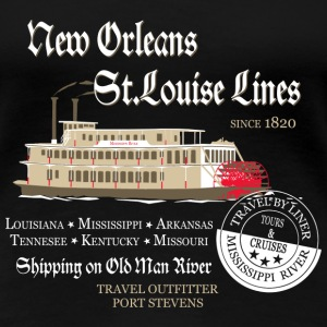 Mississippi Paddle Steamer T-Shirts - Frauen Premium T-Shirt