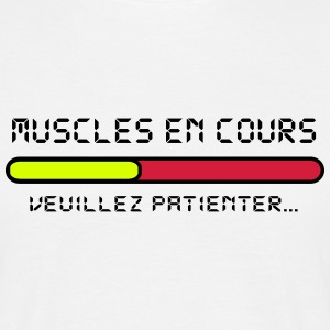muscle en cours design Tee shirts - T-shirt Homme