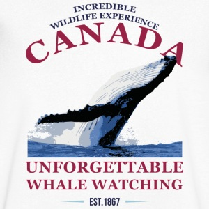 CANADA - WHALE WATCHING T-Shirts - Men's V-Neck T-Shirt