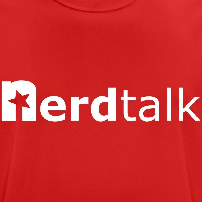 Männer T-Shirt, atmungsaktiv - Schriftzug weiß