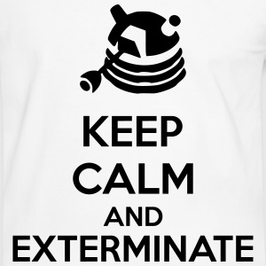 Keep Calm And Exterminate T-skjorter - Kontrast-T-skjorte for menn