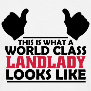 world class landlady T-Shirts - Men's T-Shirt