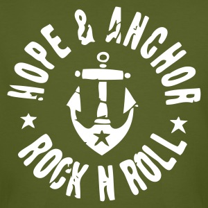 Hope and Anchor - Rock´n´Roll Shirt grün - Männer Bio-T-Shirt