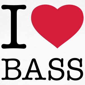 I LOVE BASS T-shirts - Dame-T-shirt