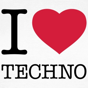 I LOVE TECHNO - Dame-T-shirt