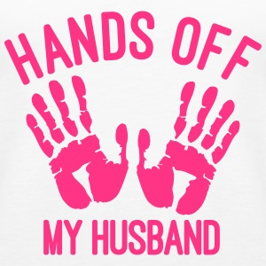 hands off my husband Tops - Frauen Premium Tank Top