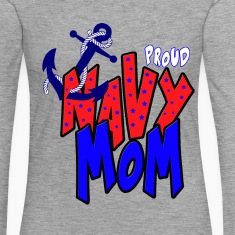 Proud navy Mom Long Sleeve Shirts