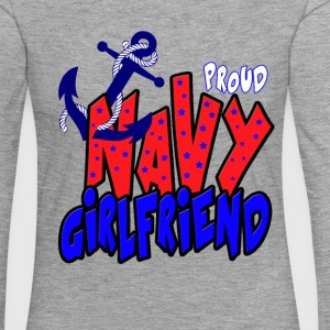 Proud Navy Girlfriend Long Sleeve Shirts - Women's Premium Longsleeve Shirt