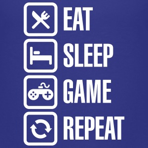 Eat sleep game repeat Shirts - Teenager Premium T-shirt
