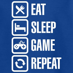Eat sleep game repeat Shirts - Teenage T-shirt